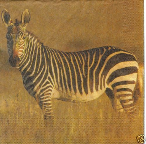 Serviette Zebra ! Steppe