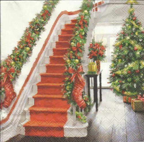 serviette staircase treppe weihnachten. Black Bedroom Furniture Sets. Home Design Ideas