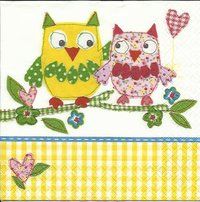 Serviette Cute Owls ! Eulen