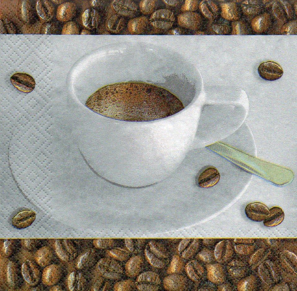 Serviette espresso serviettenrausch - Weihnachtskugeln cappuccino ...