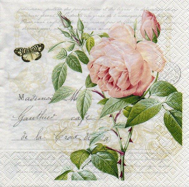 servietten rose botanical. Black Bedroom Furniture Sets. Home Design Ideas