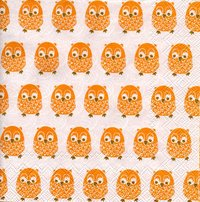 Serviette Little Owls orange