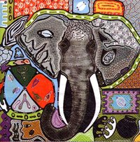 Serviette Touch of Africa ! Elefant