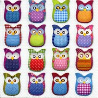 Serviette Many Owls
