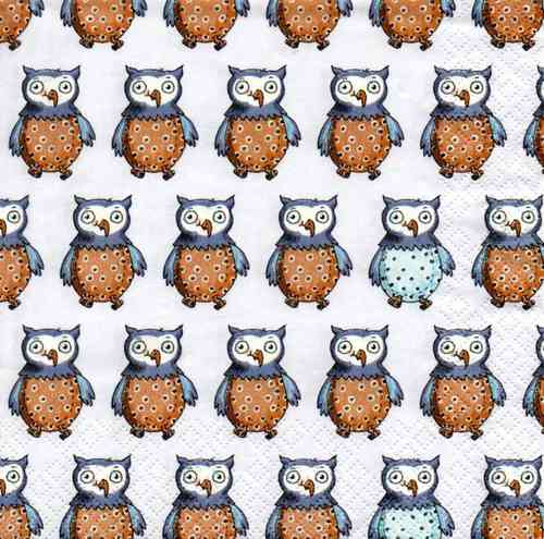 Serviette Little Owls