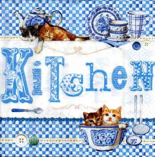 Serviette Blue Kitchen