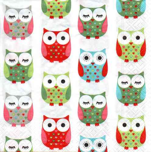 Serviette Some Owls