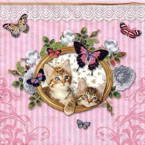 Serviette Royal Cats