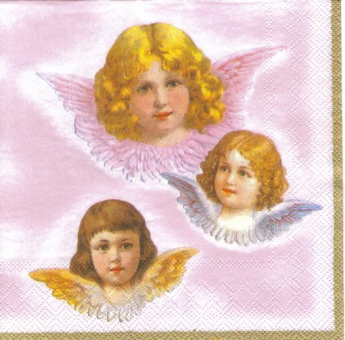 Serviette Sweet Angels rose