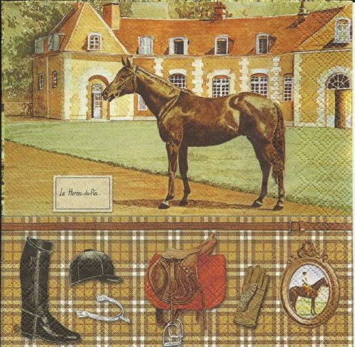 Serviette Horse Riding
