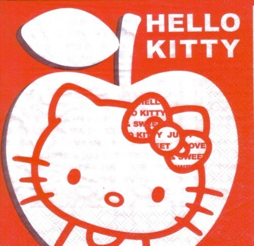 Serviette Hello Kitty Apple