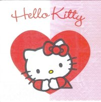 Serviette Hello Kitty Sweet Heart