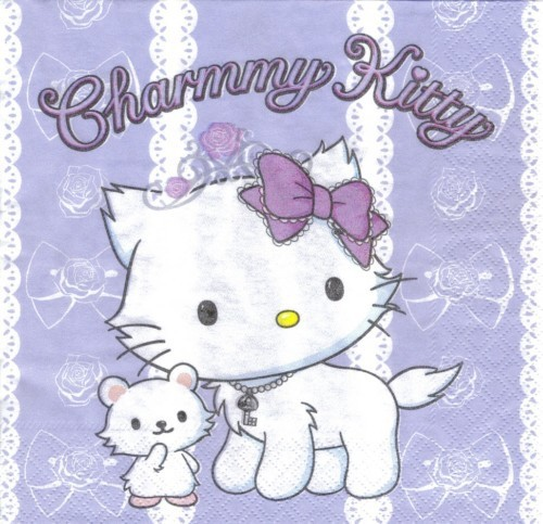 Serviette Hello Kitty Charmmy lila