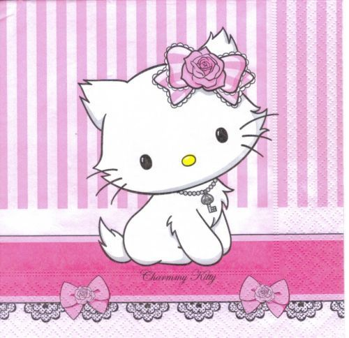 Serviette Hello Kitty Charmmy