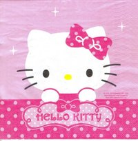 Serviette Hello Kitty Sweets Shop