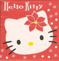 Serviette Hello Kitty XMas