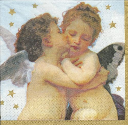 Serviette Kissing Angels ! Engel