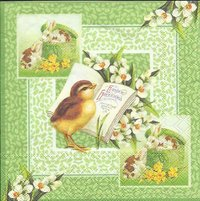 Serviette Easter Greetings