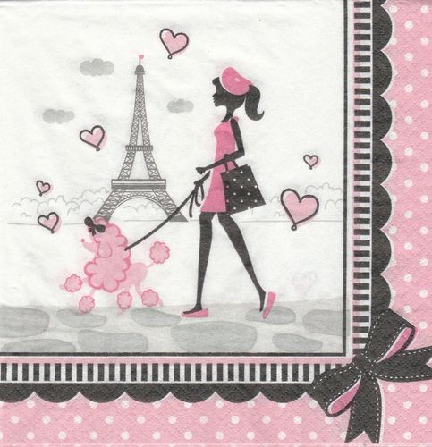 Serviette Shopping in Paris
