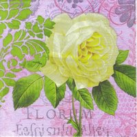 Serviette Flora Mystique : White Rose