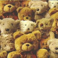 Serviette Me and my Friends ! Teddys