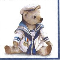 Serviette Dear Skipper ! Matrosen Teddy
