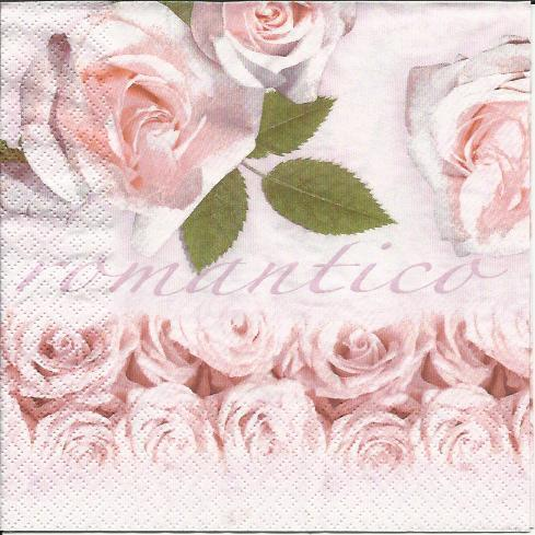 Serviette Romantico rose