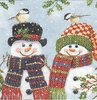 Serviette Snowman Couple
