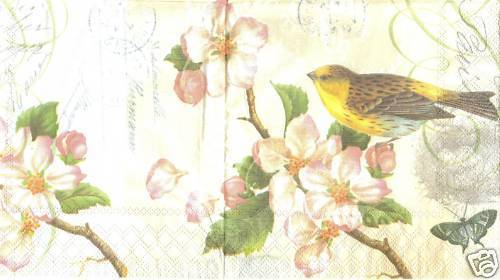 Serviette Bird and Blossom