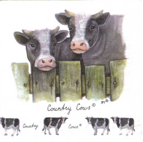 Serviette Country Cows