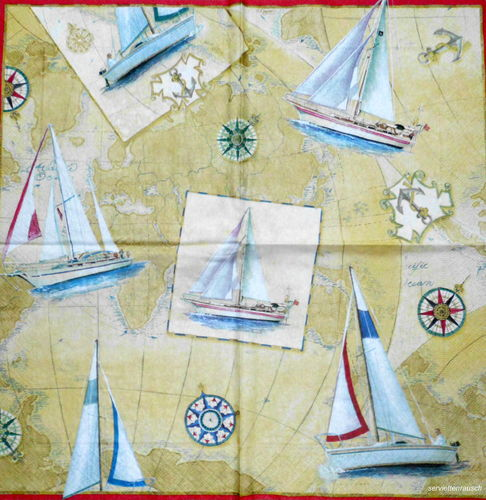 Serviette Sailboat