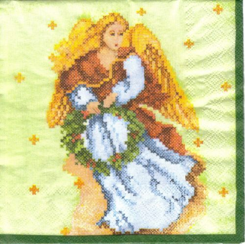 Serviette Strich Angel green