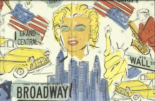 Serviette New York ! Landschaft M.Monroe