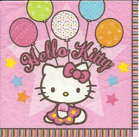 Serviette Hello Kitty Balloon Dreams