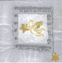 Serviette Angels Song silver