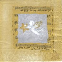 Serviette Angels Song gold