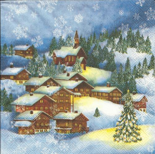 Serviette Winter Village