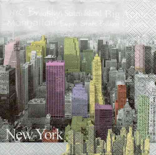 Serviette New York Color