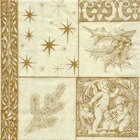 Serviette Patchwork cream ! Engel