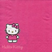 Serviette Hello Kitty pink