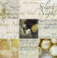 Serviette Silent Night ! Engel