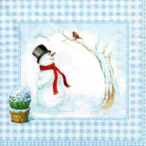 Serviette Snowmans Friend