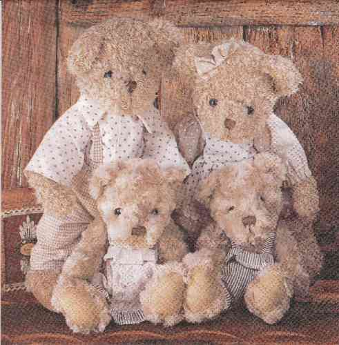 Serviette Family Teddybear