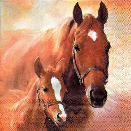 Serviette Horse and Foal