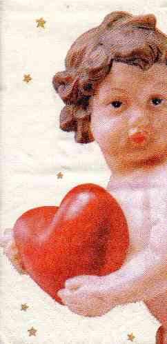 Taschentuch Putti with Heart