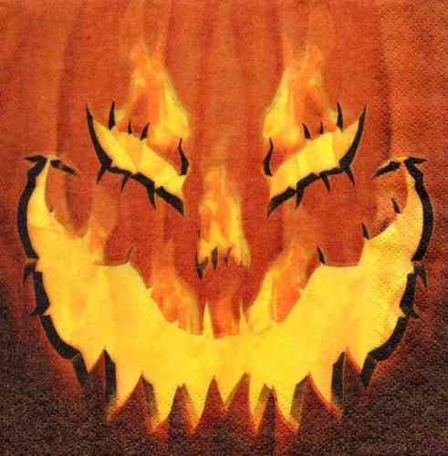 Serviette Fiery Pumpkin