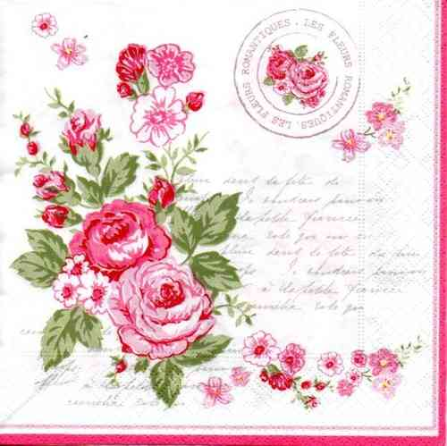 Serviette Le Rosier Rose