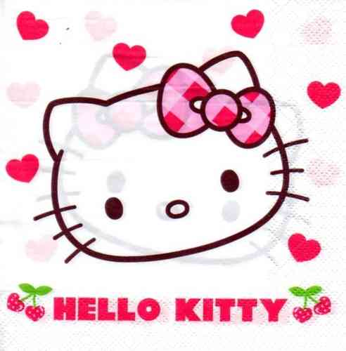 Serviette Hello Kitty Kirschen