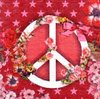 Serviette Love and Peace