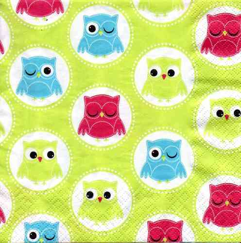 Serviette Owls